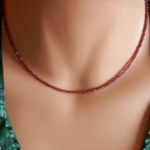 Shop Ruby Jewelry! Genuine Ruby Necklace July Birthstone Necklace Natural Ruby Pendant red ruby necklace ruby jewelry real ruby choker red necklace silver | Natural genuine Ruby jewelry. Buy crystal jewelry, handmade handcrafted artisan jewelry for women.  Unique handmade gift ideas. #jewelry #beadedjewelry #beadedjewelry #gift #shopping #handmadejewelry #fashion #style #product #jewelry #affiliate #ad