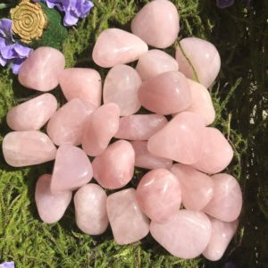 Shop Tumbled Rose Quartz Crystals & Pocket Stones! Grade A Gemmy Rose Quartz Tumbled Stones | Natural genuine stones & crystals in various shapes & sizes. Buy raw cut, tumbled, or polished gemstones for making jewelry or crystal healing energy vibration raising reiki stones. #crystals #gemstones #crystalhealing #crystalsandgemstones #energyhealing #affiliate #ad