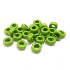 Shop Beads With Large Holes! Greek Ceramic Pony Beads, Spacer Beads, Large Hole Tube Beads, Ceramic Slider, Green Matte Finish 10x6mm (Ø 5mm) – 15 pieces | Shop jewelry making and beading supplies, tools & findings for DIY jewelry making and crafts. #jewelrymaking #diyjewelry #jewelrycrafts #jewelrysupplies #beading #affiliate #ad