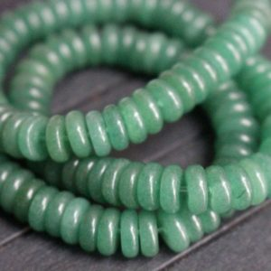 Shop Aventurine Rondelle Beads! Green Aventurine Beads Rondelle Beads,Green Aventurine Spacer Beads,15 Inches Full Strand.3x8mm | Natural genuine rondelle Aventurine beads for beading and jewelry making.  #jewelry #beads #beadedjewelry #diyjewelry #jewelrymaking #beadstore #beading #affiliate #ad