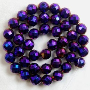 Shop Hematite Faceted Beads! Faceted Gemstone Purple Hematite loose Beads, Round 3mm 4mm 6mm 8mm 10mm Hematite beads, Spacer Faceted beads, Jewelry beads, Stone beads | Natural genuine faceted Hematite beads for beading and jewelry making.  #jewelry #beads #beadedjewelry #diyjewelry #jewelrymaking #beadstore #beading #affiliate #ad