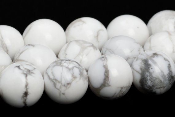White Howlite Beads Grade Aaa Genuine Natural Gemstone Round Loose Beads 4mm 6mm 8mm 10mm 12mm 15mm Bulk Lot Options