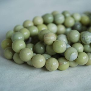 """Shop Jade Round Beads! High Quality Grade A Natural Butter Jade Semi-precious Gemstone Round Beads – 4mm, 6mm, 8mm, 10mm sizes – Approx 15.5"""" strand 