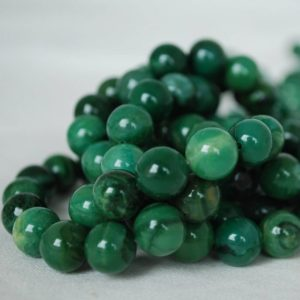 "Shop Jade Beads! High Quality Grade A Natural Verdite African Jade Semi-precious Gemstone Round Beads – 4mm, 6mm, 8mm, 10mm sizes – Approx 15.5"" strand 