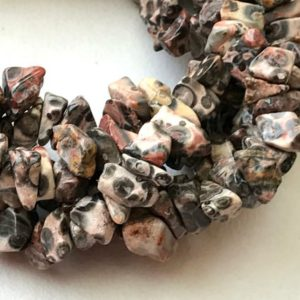 Shop Jasper Chip Beads! Leopard Spots Jasper Chip Beads, Natural Leopard Spots Jasper Gemstone Chips, Jasper Necklace, 5-8mm, 32 Inch – RAMA204 | Natural genuine chip Jasper beads for beading and jewelry making.  #jewelry #beads #beadedjewelry #diyjewelry #jewelrymaking #beadstore #beading #affiliate