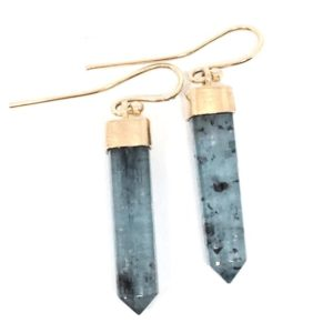 Shop Kyanite Earrings! Kyanite Crystal Earrings Gold Kyanite Earrings Kyanite Dangles Raw Kyanite Crystals Kyanite Drops Minimalist Earrings Womens Gift for Wife | Natural genuine Kyanite earrings. Buy crystal jewelry, handmade handcrafted artisan jewelry for women.  Unique handmade gift ideas. #jewelry #beadedearrings #beadedjewelry #gift #shopping #handmadejewelry #fashion #style #product #earrings #affiliate #ad