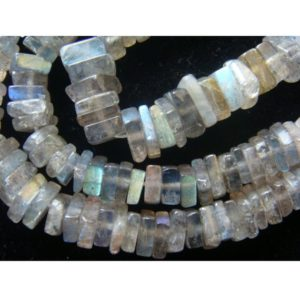 Shop Labradorite Bead Shapes! 5mm Labradorite Square Heishi Cut Beads, Labradorite Flat Square Heishi, Labradorite Heishi For Jewelry (8IN To 16IN Options) | Natural genuine other-shape Labradorite beads for beading and jewelry making.  #jewelry #beads #beadedjewelry #diyjewelry #jewelrymaking #beadstore #beading #affiliate #ad