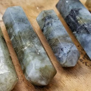Labradorite Double Terminated Point  – Hand Cut Natural Stone Point for Crystal Grids or Terrarium 247 |  #affiliate