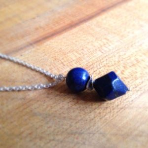 Shop Lapis Lazuli Necklaces! Lapis Necklace – Navy Blue Necklace – Sterling Silver Jewellery – Lapis Lazuli – Gemstone Jewelry – Long Chain | Natural genuine Lapis Lazuli necklaces. Buy crystal jewelry, handmade handcrafted artisan jewelry for women.  Unique handmade gift ideas. #jewelry #beadednecklaces #beadedjewelry #gift #shopping #handmadejewelry #fashion #style #product #necklaces #affiliate #ad