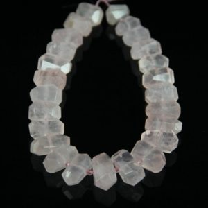 Shop Rose Quartz Chip & Nugget Beads! Large Natural Rose Quartz Nugget Beads,Middle Drilled Faceted Chunkys,Raw Crystals Gemstone Strand Pendants Bulk Jewelry Supplies | Natural genuine chip Rose Quartz beads for beading and jewelry making.  #jewelry #beads #beadedjewelry #diyjewelry #jewelrymaking #beadstore #beading #affiliate #ad