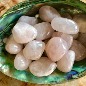 "Shop Tumbled Rose Quartz Crystals & Pocket Stones! Large Rose Quartz Crystal | ""A"" Grade Rose Quartz Tumbled Stones 