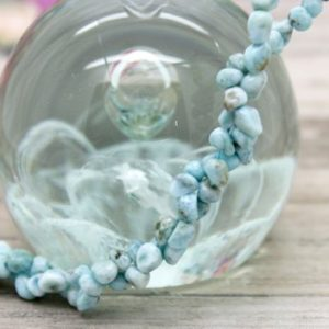 Shop Larimar Chip & Nugget Beads! Larimar Small Chip Gemstone Beads Full Strand For Jewelry Making | Natural genuine chip Larimar beads for beading and jewelry making.  #jewelry #beads #beadedjewelry #diyjewelry #jewelrymaking #beadstore #beading #affiliate #ad