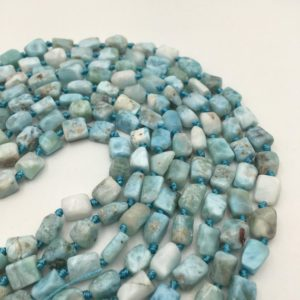 Shop Larimar Bead Shapes! Natural Larimar Irregular Tube Shape Smooth Gemstone Loose Beads Size Approx 5x8mm | Natural genuine other-shape Larimar beads for beading and jewelry making.  #jewelry #beads #beadedjewelry #diyjewelry #jewelrymaking #beadstore #beading #affiliate