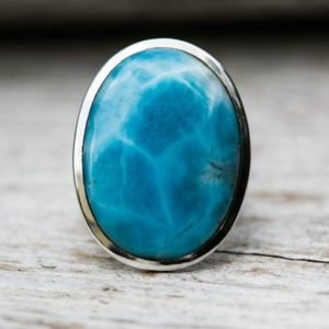 Shop Larimar Rings! Larimar Ring Size 8.5 Turtleback Larimar Ring – Stunning Turtleback larimar – Gorgeous Ring Larimar – AAA Larimar Ring – Larimar – Blue | Natural genuine Larimar rings, simple unique handcrafted gemstone rings. #rings #jewelry #shopping #gift #handmade #fashion #style #affiliate #ad