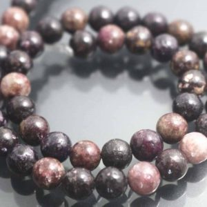 8mm Natural Purple Lepidolite Round Beads,Purple Mica Roung Beads,15 inches one starand | Natural genuine beads Gemstone beads for beading and jewelry making.  #jewelry #beads #beadedjewelry #diyjewelry #jewelrymaking #beadstore #beading #affiliate #ad