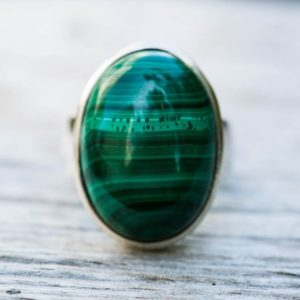 Shop Malachite Rings! Malachite Ring 8 – Malachite Gemstone Ring, Green Malachite Ring – Malachite Jewelry – Ring Size 8 – Malachite Ring Size 8 Malachite Ring 8 | Natural genuine Malachite rings, simple unique handcrafted gemstone rings. #rings #jewelry #shopping #gift #handmade #fashion #style #affiliate #ad