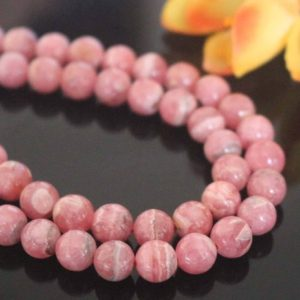 "Shop Rhodochrosite Round Beads! Natural AAA Rhodochrosite Smooth and Round Beads,6mm 8mm 10mm 12mm  Rhodochrosite Beads ,15"" strand 