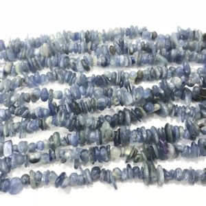 Shop Kyanite Necklaces! Natural Blue Kyanite 5-8mm Chips Genuine Loose Nugget Beads 34 inch Jewelry Supply Bracelet Necklace Material Support Wholesale | Natural genuine Kyanite necklaces. Buy crystal jewelry, handmade handcrafted artisan jewelry for women.  Unique handmade gift ideas. #jewelry #beadednecklaces #beadedjewelry #gift #shopping #handmadejewelry #fashion #style #product #necklaces #affiliate #ad