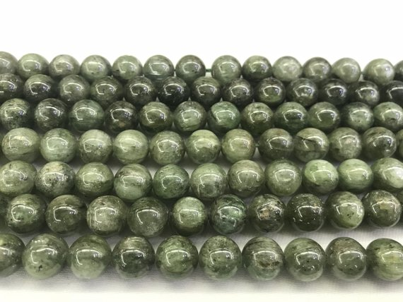 Natural Kyanite Green 8mm/10mm/12mm Round Genuine Quartz Loose Beads 15 Inch Jewelry Supply Bracelet Necklace Material Support