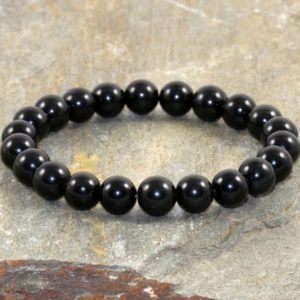 Black Obsidian Bracelet, Stress Relief, 8mm Beads, Healing Crystals, Vidriagon Grounding-protection From Negative Energy-emotional Balance | Natural genuine Gemstone bracelets. Buy crystal jewelry, handmade handcrafted artisan jewelry for women.  Unique handmade gift ideas. #jewelry #beadedbracelets #beadedjewelry #gift #shopping #handmadejewelry #fashion #style #product #bracelets #affiliate #ad