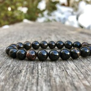 Shop Obsidian Bracelets! Obsidian Bracelet Handmade 8mm Grade A Black and Brown Obsidian Beaded Gemstone Bracelet Natural Obsidian Bracelet Jewelry Gift Bracelet | Natural genuine Obsidian bracelets. Buy crystal jewelry, handmade handcrafted artisan jewelry for women.  Unique handmade gift ideas. #jewelry #beadedbracelets #beadedjewelry #gift #shopping #handmadejewelry #fashion #style #product #bracelets #affiliate #ad