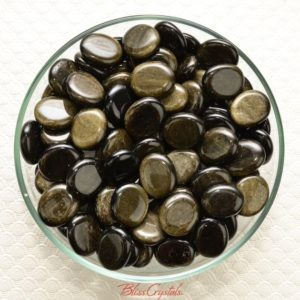 Shop Obsidian Stones & Crystals! 1 Goldsheen Obsidian Mini Palm Stone Grade A Grounding Protection #gd10 | Natural genuine stones & crystals in various shapes & sizes. Buy raw cut, tumbled, or polished gemstones for making jewelry or crystal healing energy vibration raising reiki stones. #crystals #gemstones #crystalhealing #crystalsandgemstones #energyhealing #affiliate #ad