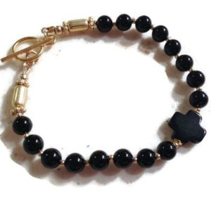Shop Onyx Bracelets! Black Onyx Bracelet – Gemstone Jewelry – Gold Jewellery – Celtic Cross – Fashion – Beaded – Style | Natural genuine Onyx bracelets. Buy crystal jewelry, handmade handcrafted artisan jewelry for women.  Unique handmade gift ideas. #jewelry #beadedbracelets #beadedjewelry #gift #shopping #handmadejewelry #fashion #style #product #bracelets #affiliate #ad