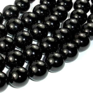 Shop Onyx Round Beads! Black Onyx Beads, 14mm(13.8mm) Round, 15 Inch, Full strand, Approx 28 beads, Hole 1.4 mm, AA quality (140054006) | Natural genuine round Onyx beads for beading and jewelry making.  #jewelry #beads #beadedjewelry #diyjewelry #jewelrymaking #beadstore #beading #affiliate #ad