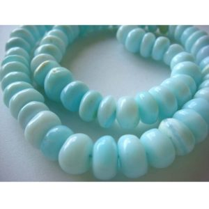Shop Opal Beads! 9-11mm Approx., Blue Opal Plain Rondelles, Blue Opal Smooth Rondelle Beads, Blue Opal Rondelle For Jewerly (7IN To 14IN Options) – GFJ461 | Natural genuine beads Opal beads for beading and jewelry making.  #jewelry #beads #beadedjewelry #diyjewelry #jewelrymaking #beadstore #beading #affiliate #ad