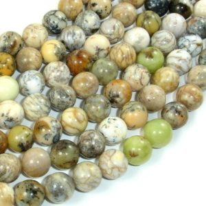Shop Opal Round Beads! Dendritic Opal Beads, Moss Opal, 10mm Round Beads, 16 Inch, Full strand, Approx 40 beads, Hole 1 mm, A quality (441054007) | Natural genuine gemstone beads for making jewelry in various shapes & sizes. Buy crystal beads raw cut or polished for making handmade homemade handcrafted jewelry. #jewelry #beads #beadedjewelry #product #diy #diyjewelry #shopping #craft #product