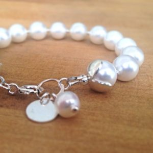 Shop Pearl Bracelets! White Pearl Bracelet – Wedding Jewelry – Sterling Silver Jewellery – June Birthstone – Bride – Pearl Jewelry | Natural genuine Pearl bracelets. Buy handcrafted artisan wedding jewelry.  Unique handmade bridal jewelry gift ideas. #jewelry #beadedbracelets #gift #crystaljewelry #shopping #handmadejewelry #wedding #bridal #bracelets #affiliate #ad
