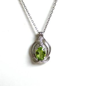 Shop Peridot Pendants! Peridot Necklace/ Sterling Silver Peridot Necklace/ Genuine Peridot Necklace/ August Birthstone/ Genuine Gemstone Necklace/ Green Peridot | Natural genuine Peridot pendants. Buy crystal jewelry, handmade handcrafted artisan jewelry for women.  Unique handmade gift ideas. #jewelry #beadedpendants #beadedjewelry #gift #shopping #handmadejewelry #fashion #style #product #pendants #affiliate #ad