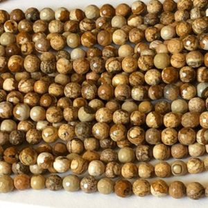 Shop Picture Jasper Faceted Beads! 8.5-9mm Picture Jasper Beads, Picture Jasper Faceted Round Ball Beads, 13 Inch Strand, 45 Pcs, 1mm Hole Picture Jasper Necklace – ANT35 | Natural genuine faceted Picture Jasper beads for beading and jewelry making.  #jewelry #beads #beadedjewelry #diyjewelry #jewelrymaking #beadstore #beading #affiliate #ad