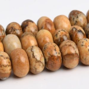 "Shop Picture Jasper Rondelle Beads! 6x4mm Picture Jasper Beads Grade Aaa Genuine Natural Gemstone Full Strand Rondelle Loose Beads 15"" Bulk Lot 1, 3, 5, 10, 50 (103410-773) 