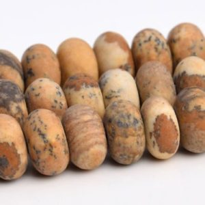 "Shop Picture Jasper Rondelle Beads! 6x4MM Matte Picture Jasper Beads AAA Genuine Natural Gemstone Full Strand Rondelle Loose Beads 15"" BULK LOT 1,3,5,10,50 (103414-772) 