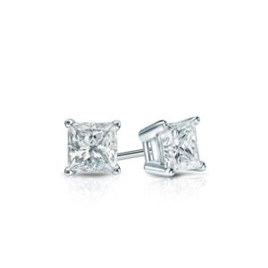 Princess cut diamond studs, gold diamond stud earrings, diamond earring studs, princess cut diamond earrings, wedding earring studs, diamond | Natural genuine Gemstone earrings. Buy handcrafted artisan wedding jewelry.  Unique handmade bridal jewelry gift ideas. #jewelry #beadedearrings #gift #crystaljewelry #shopping #handmadejewelry #wedding #bridal #earrings #affiliate #ad