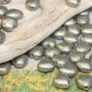 Shop Pyrite Bead Shapes! Natural Gemstone Pyrite hearts 8mm or 10mm / Gold Pyrite Beads / Gemstone Heart Beads / 3 x Natural Heart Beads | Natural genuine other-shape Pyrite beads for beading and jewelry making.  #jewelry #beads #beadedjewelry #diyjewelry #jewelrymaking #beadstore #beading #affiliate #ad