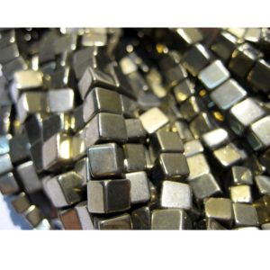 Shop Pyrite Bead Shapes! 6mm Pyrite Plain Box Beads, Natural Pyrite Cube Beads,  Natural Pyrite Square Box Beads for Jewelry (8IN To 16IN Options) – PBB | Natural genuine other-shape Pyrite beads for beading and jewelry making.  #jewelry #beads #beadedjewelry #diyjewelry #jewelrymaking #beadstore #beading #affiliate #ad