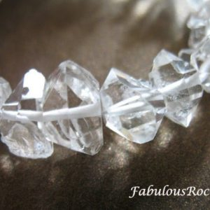Shop Quartz Crystal Beads! 5-100 pcs / 5-7 mm Wholesale Herkimers Diamond Gems Gemstones Nuggets Quartz Crystals / Water Clear Crystal april birthstone healing gem  xs | Natural genuine beads Quartz beads for beading and jewelry making.  #jewelry #beads #beadedjewelry #diyjewelry #jewelrymaking #beadstore #beading #affiliate #ad