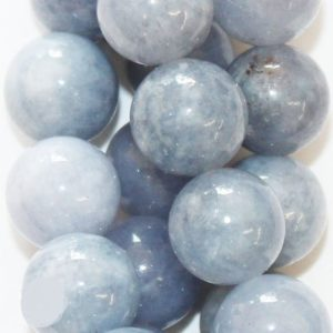 "Shop Quartz Crystal Round Beads! Natural Quartz Beads, Aquamarine Color – Round 12 mm Gemstone Beads – Full Strand 15"", 32 beads 