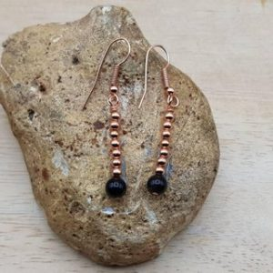 Shop Rainbow Obsidian Earrings! Rose Gold Rainbow Obsidian Earrings. Reiki Jewelry Uk. Plated Long Elegant Earrings. Minimalist Earrings. 6mm Stone | Natural genuine Rainbow Obsidian earrings. Buy crystal jewelry, handmade handcrafted artisan jewelry for women.  Unique handmade gift ideas. #jewelry #beadedearrings #beadedjewelry #gift #shopping #handmadejewelry #fashion #style #product #earrings #affiliate #ad