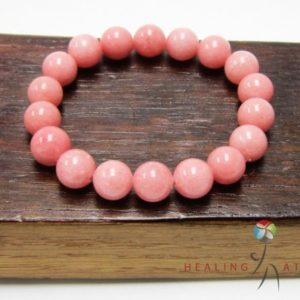 Shop Rhodochrosite Bracelets! Rhodochrosite Bracelet Heart Chakra Bracelet Balance Pink Mala Love Rhodochrosite Bracelet Yoga Meditation Bracelet Rhodocrosite Bracelet | Natural genuine Rhodochrosite bracelets. Buy crystal jewelry, handmade handcrafted artisan jewelry for women.  Unique handmade gift ideas. #jewelry #beadedbracelets #beadedjewelry #gift #shopping #handmadejewelry #fashion #style #product #bracelets #affiliate #ad