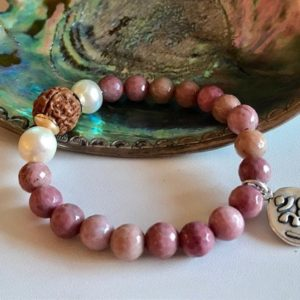 Shop Rhodochrosite Bracelets! Rhodochrosite Bracelet – Pink Gemstone Bracelet – Stretch Energy bracelet | Natural genuine Rhodochrosite bracelets. Buy crystal jewelry, handmade handcrafted artisan jewelry for women.  Unique handmade gift ideas. #jewelry #beadedbracelets #beadedjewelry #gift #shopping #handmadejewelry #fashion #style #product #bracelets #affiliate #ad