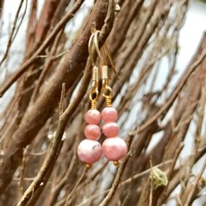 Shop Rhodochrosite Earrings! Handmade Natural Rhodochrosite Earrings Women's Gemstone Earrings Small Earrings Dainty Fishhook Earrings Natural Rhodocrosite Earrings | Natural genuine Rhodochrosite earrings. Buy crystal jewelry, handmade handcrafted artisan jewelry for women.  Unique handmade gift ideas. #jewelry #beadedearrings #beadedjewelry #gift #shopping #handmadejewelry #fashion #style #product #earrings #affiliate #ad
