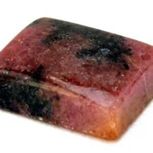 Shop Rhodonite Stones & Crystals! Rhodonite Cabochon Stone (20mm X 17mm X 7mm) 33cts – Irregular Rectangle Cabochon | Natural genuine stones & crystals in various shapes & sizes. Buy raw cut, tumbled, or polished gemstones for making jewelry or crystal healing energy vibration raising reiki stones. #crystals #gemstones #crystalhealing #crystalsandgemstones #energyhealing #affiliate #ad