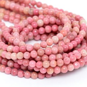 Haitian Flower Rhodonite Beads Grade AAA Genuine Natural Gemstone Round Loose Beads 4MM 6MM 8MM 10MM 12MM Bulk Lot Options | Natural genuine round Rhodonite beads for beading and jewelry making.  #jewelry #beads #beadedjewelry #diyjewelry #jewelrymaking #beadstore #beading #affiliate #ad