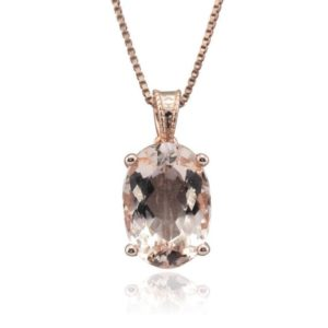 Shop Morganite Pendants! Rose Gold Morganite Pendant, Oval Morganite Pendant, Filigree Pendant – LS3573 | Natural genuine Morganite pendants. Buy crystal jewelry, handmade handcrafted artisan jewelry for women.  Unique handmade gift ideas. #jewelry #beadedpendants #beadedjewelry #gift #shopping #handmadejewelry #fashion #style #product #pendants #affiliate #ad