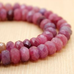 2.5-3mm Ruby African Rondelle Faceted 7.75 inch
