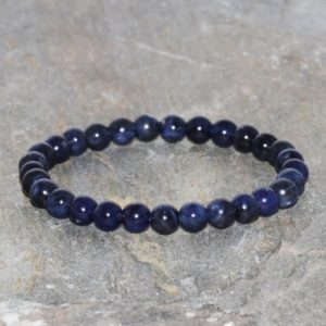 Shop Sodalite Bracelets! Sodalite Bracelet Handmade 6mm Grade AAA Natural South African Dark Blue Sodalite Beaded Gemstone Bracelet Stack Bracelet Gift Bracelet | Natural genuine Sodalite bracelets. Buy crystal jewelry, handmade handcrafted artisan jewelry for women.  Unique handmade gift ideas. #jewelry #beadedbracelets #beadedjewelry #gift #shopping #handmadejewelry #fashion #style #product #bracelets #affiliate #ad