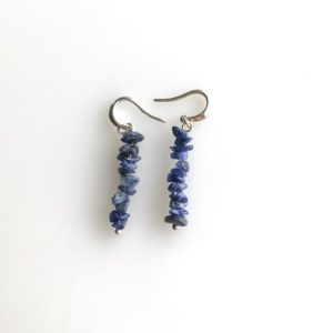 Shop Sodalite Earrings! Sodalite earrings Anxiety Jewelry, raw crystal earrings, sodalite jewelry calming stones | Natural genuine Sodalite earrings. Buy crystal jewelry, handmade handcrafted artisan jewelry for women.  Unique handmade gift ideas. #jewelry #beadedearrings #beadedjewelry #gift #shopping #handmadejewelry #fashion #style #product #earrings #affiliate #ad